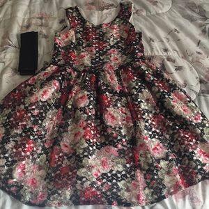 Lace rose dress